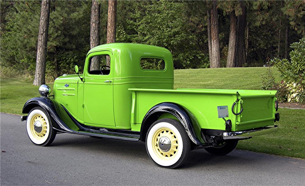 1936 CHEVROLET 1/2 TON PICKUP - Rear 3/4 - 96093