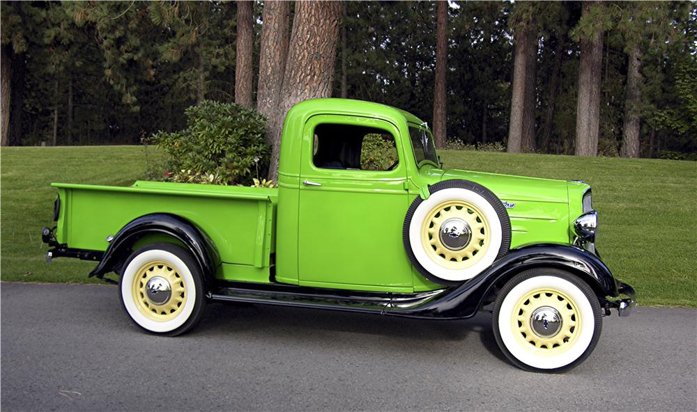 1936 CHEVROLET 1/2 TON PICKUP - Side Profile - 96093