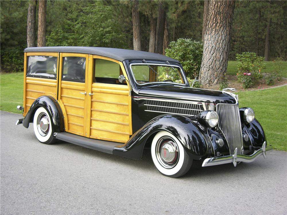 1936 FORD STATION WAGON - Front 3/4 - 96096