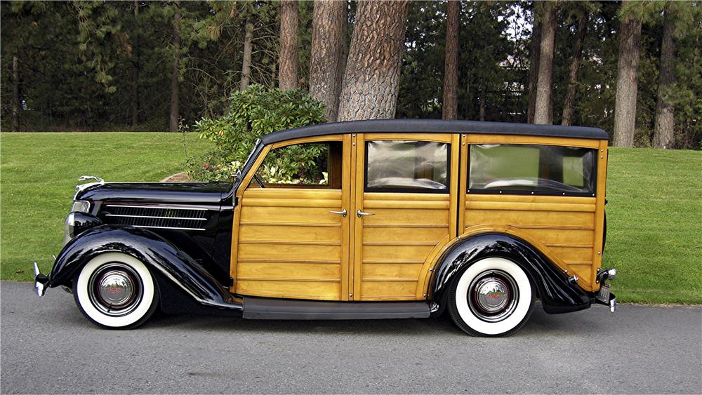 1936 FORD STATION WAGON - Side Profile - 96096