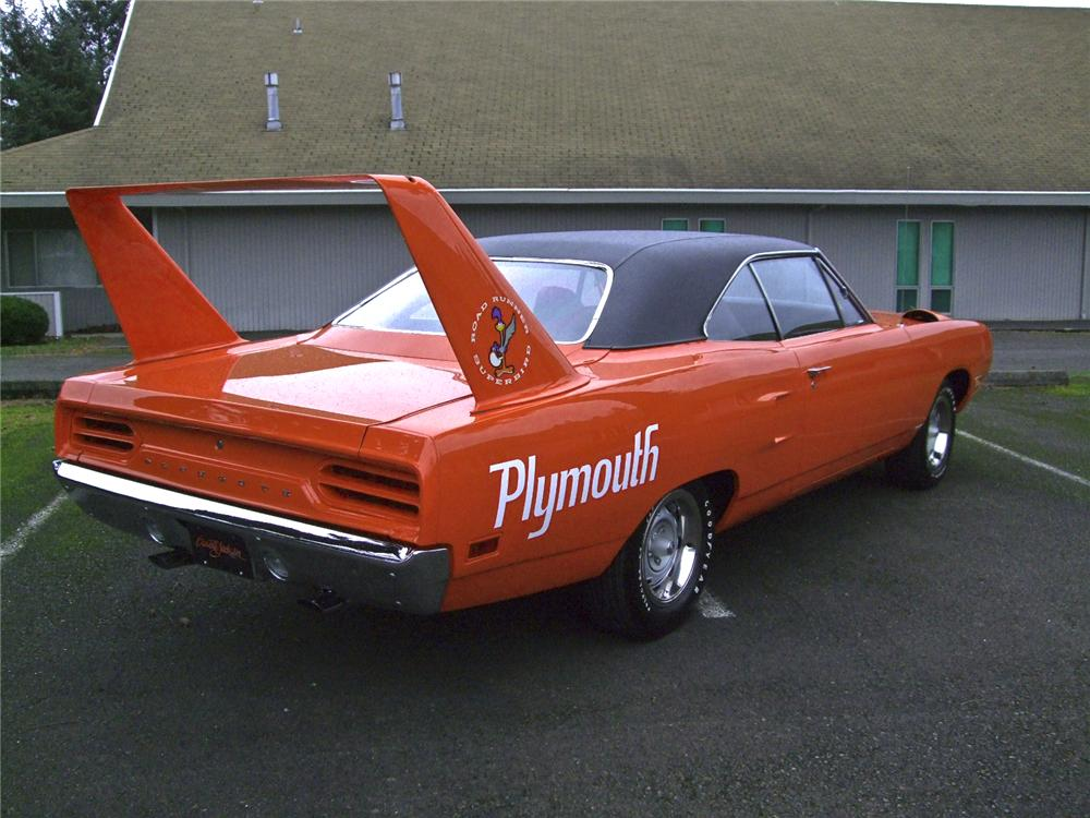 1970 PLYMOUTH SUPERBIRD 2 DOOR HARDTOP - Rear 3/4 - 96098
