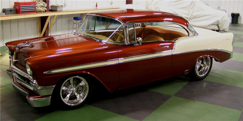 1956 CHEVROLET BEL AIR CUSTOM 2 DOOR HARDTOP - Side Profile - 96101