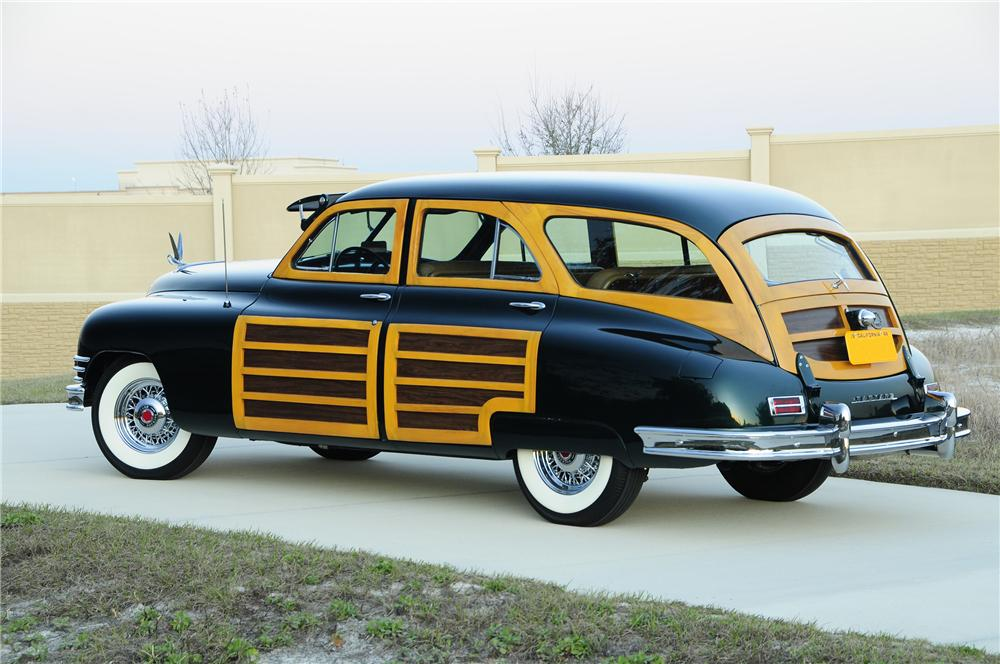 1948 PACKARD SERIES 22 WOODY WAGON - Rear 3/4 - 96104