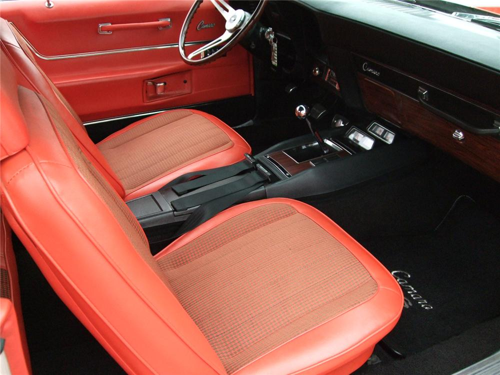 1969 CHEVROLET CAMARO INDY PACE CAR CONVERTIBLE - Interior - 96124