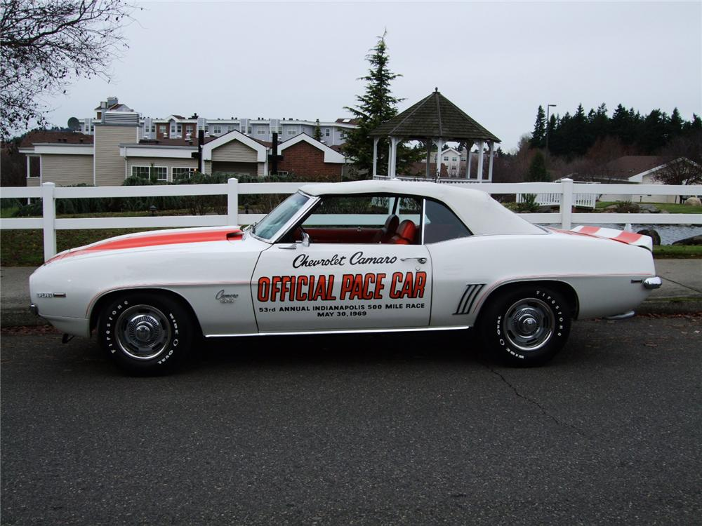 1969 CHEVROLET CAMARO INDY PACE CAR CONVERTIBLE - Side Profile - 96124