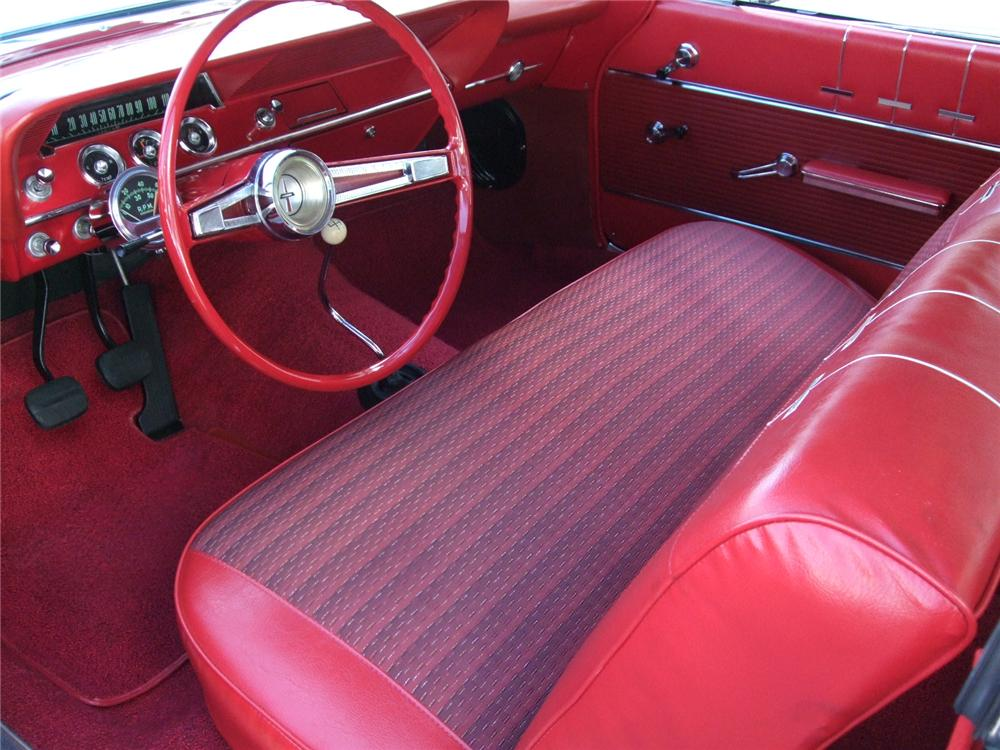 1962 CHEVROLET BEL AIR 2 DOOR BUBBLE TOP - Interior - 96127