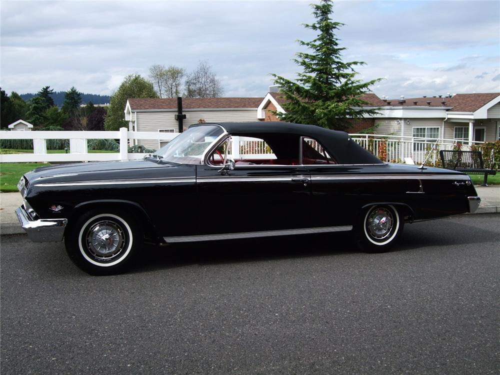 1962 CHEVROLET IMPALA SS CONVERTIBLE - Side Profile - 96128