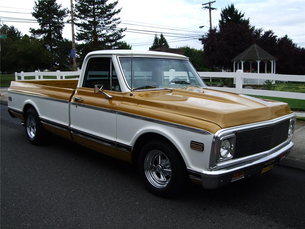 1972 CHEVROLET C-10 CUSTOM PICKUP - Front 3/4 - 96129