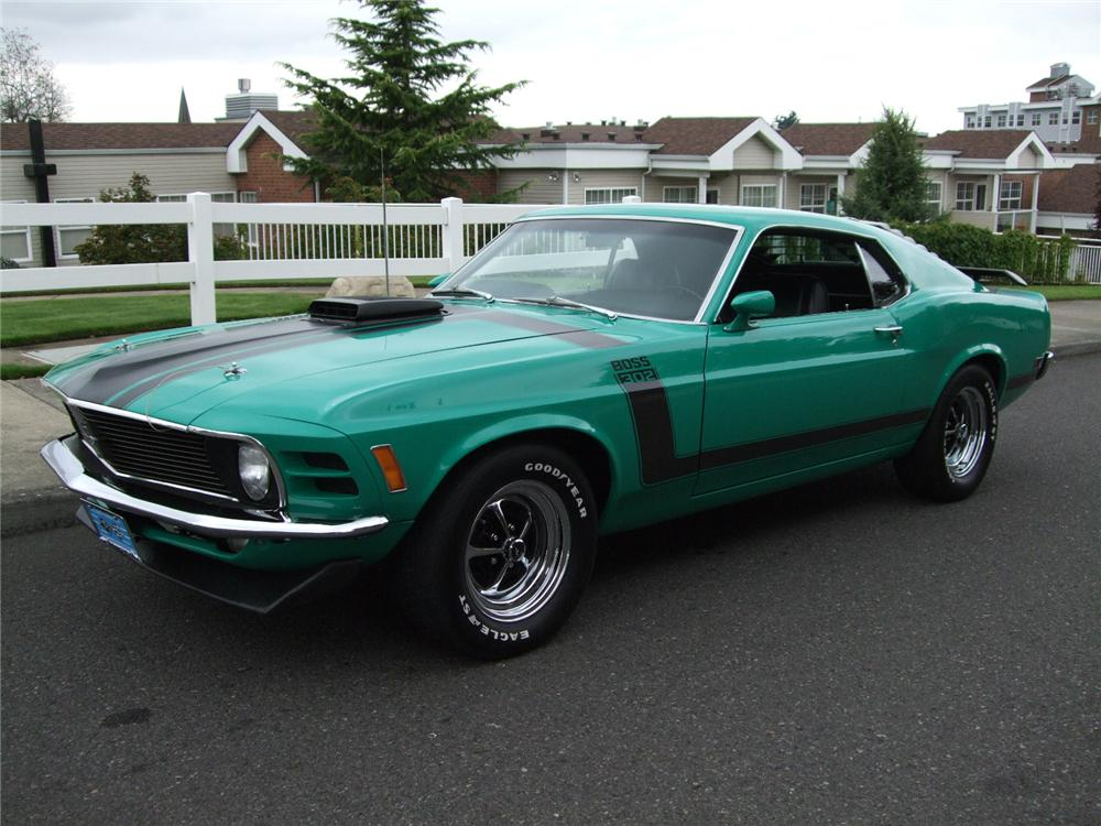 1970 FORD MUSTANG BOSS 302 2 DOOR FASTBACK - Front 3/4 - 96135
