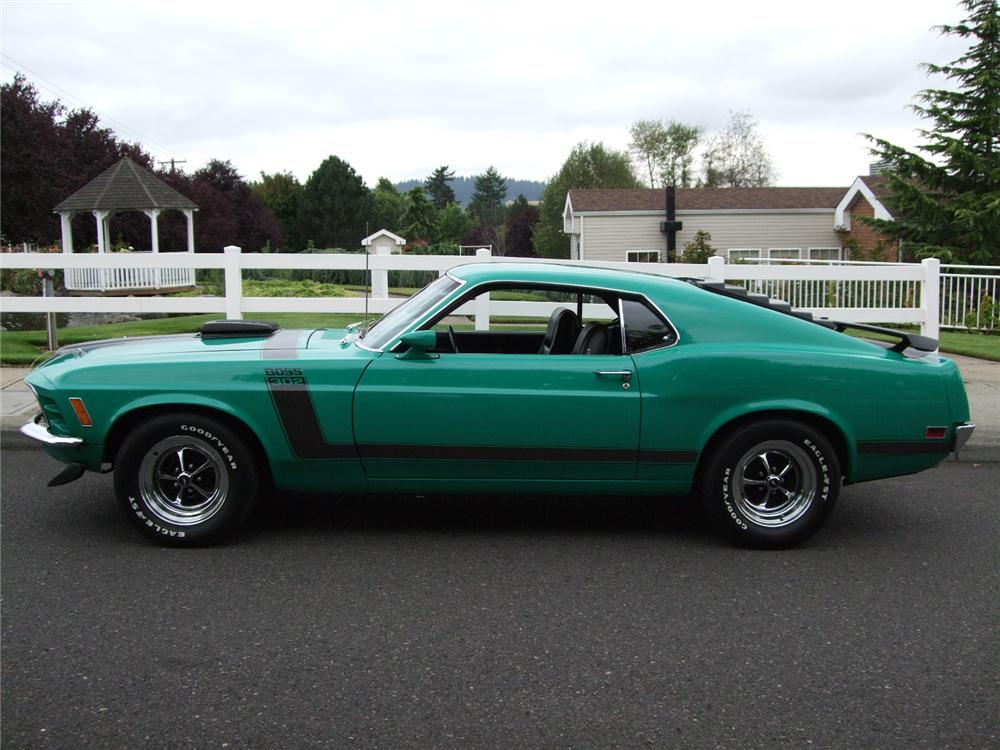 1970 FORD MUSTANG BOSS 302 2 DOOR FASTBACK - Side Profile - 96135