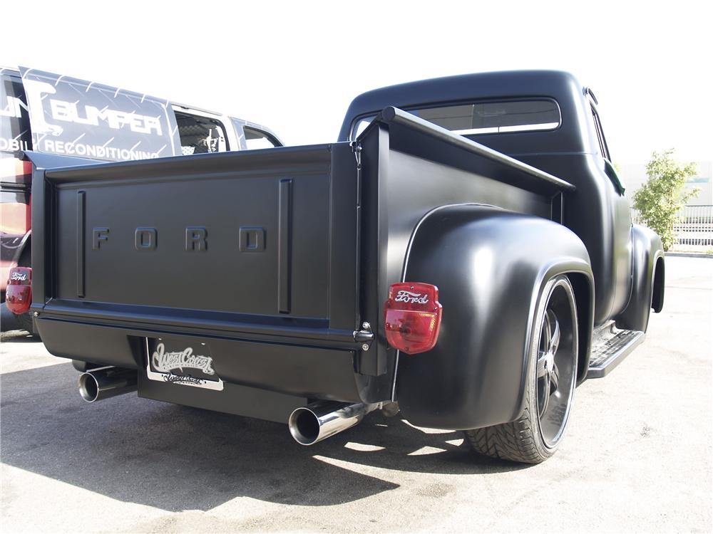 1955 FORD F-100 CUSTOM PICKUP - Rear 3/4 - 96136