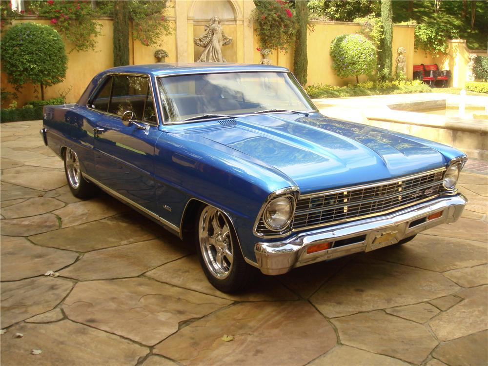 1967 CHEVROLET NOVA CUSTOM 2 DOOR COUPE - Front 3/4 - 96139
