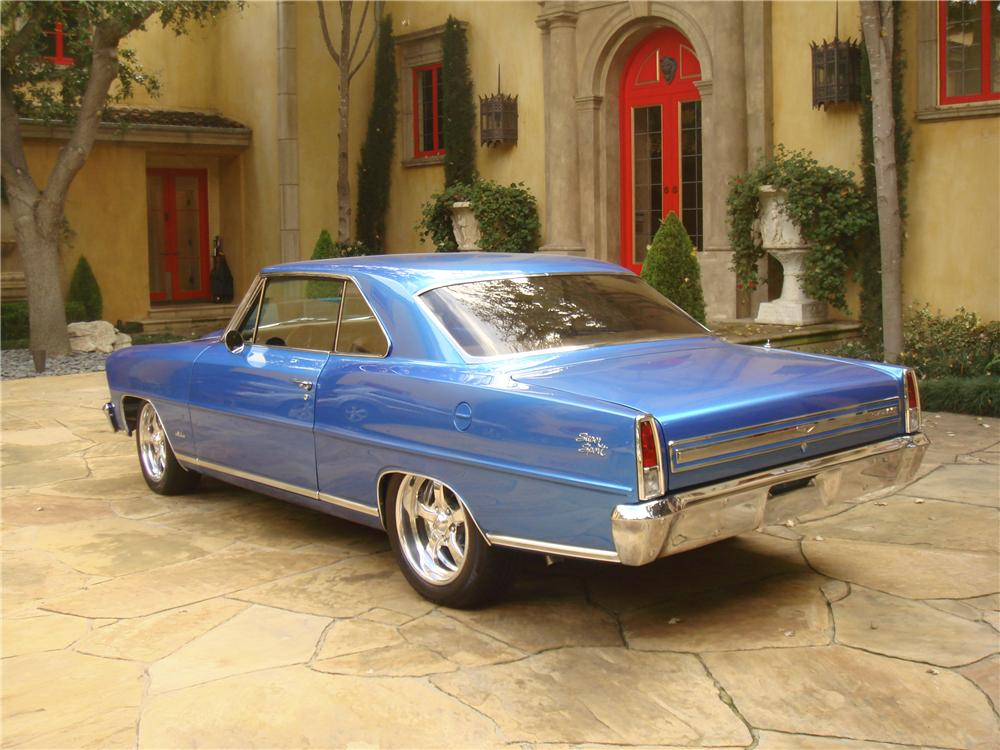1967 CHEVROLET NOVA CUSTOM 2 DOOR COUPE - Rear 3/4 - 96139
