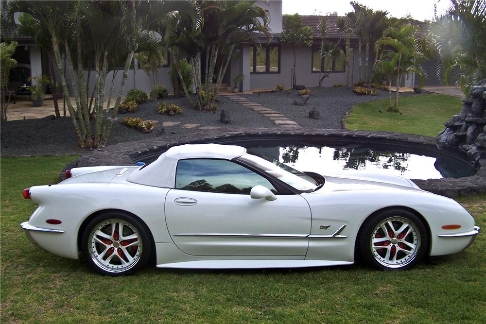 2001 CHEVROLET CORVETTE 50TH COMMEMORATIVE EDITION - Side Profile - 96144