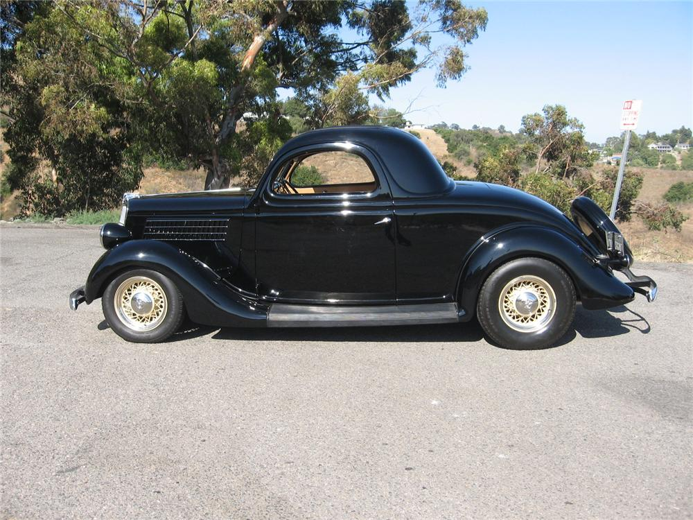 1935 ford 3 window custom coupe 96145 for 1935 3 window coupe