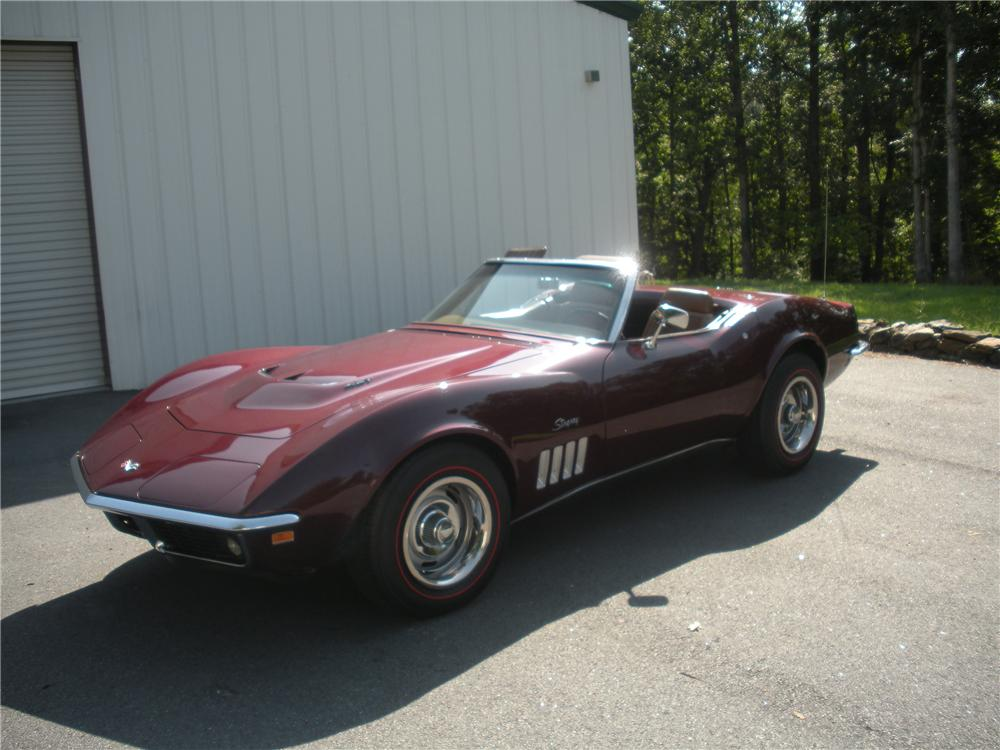 1969 CHEVROLET CORVETTE CONVERTIBLE - Side Profile - 96156