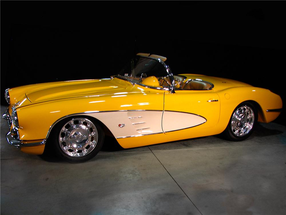1959 CHEVROLET CORVETTE CUSTOM CONVERTIBLE - Side Profile - 96169
