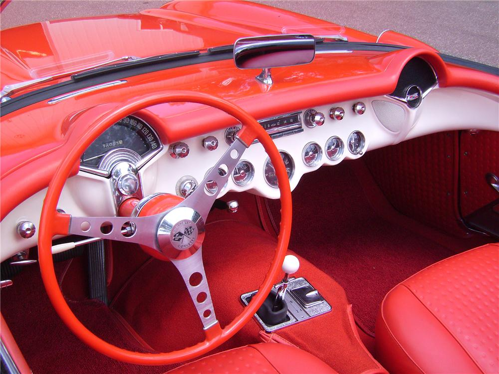 1957 CHEVROLET CORVETTE CONVERTIBLE - Interior - 96172