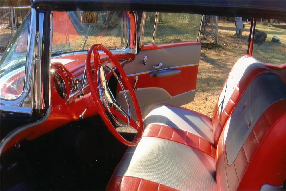 1957 CHEVROLET BEL AIR CONVERTIBLE - Interior - 96177
