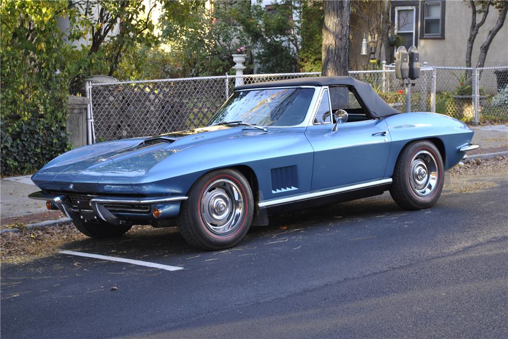 1967 CHEVROLET CORVETTE CONVERTIBLE - Side Profile - 96178
