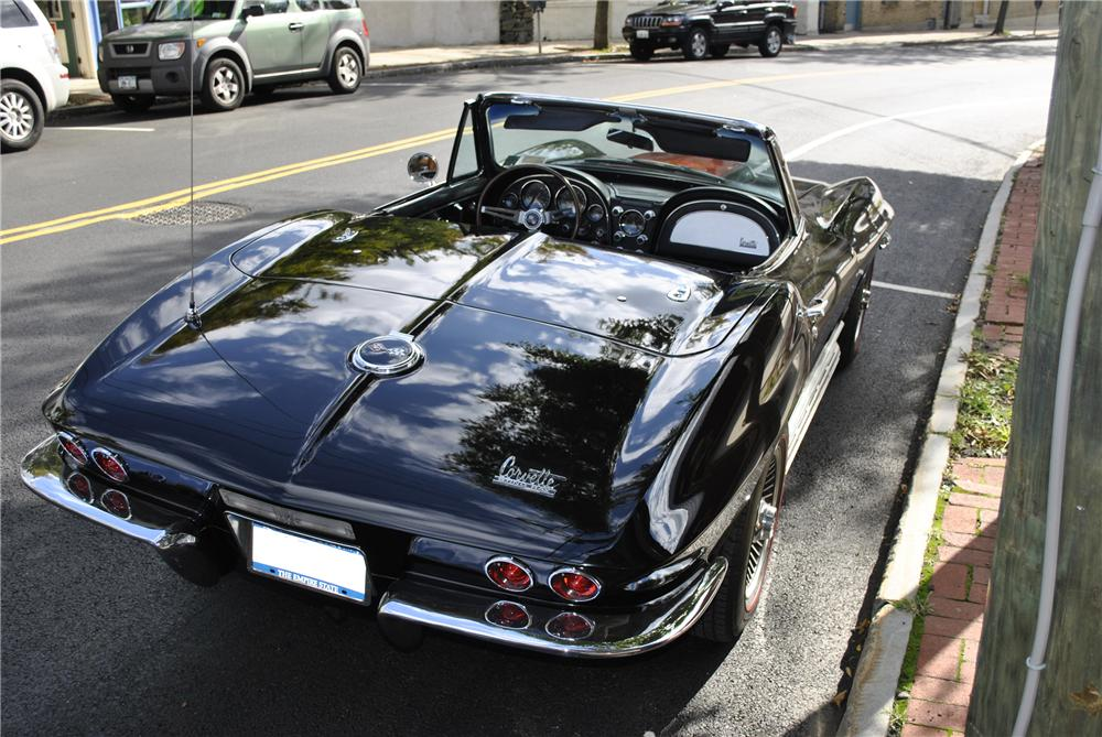 1967 CHEVROLET CORVETTE CONVERTIBLE - Rear 3/4 - 96179