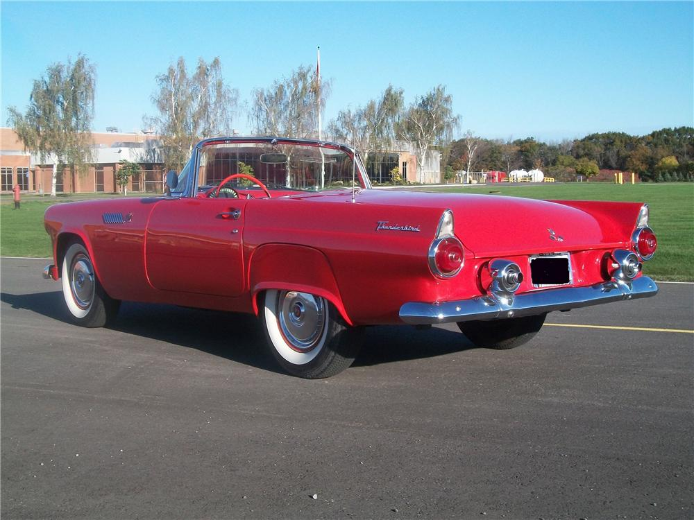 1955 FORD THUNDERBIRD CONVERTIBLE - Rear 3/4 - 96184