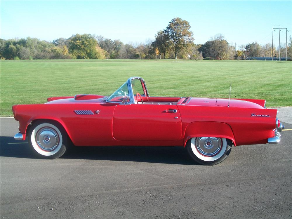 1955 FORD THUNDERBIRD CONVERTIBLE - Side Profile - 96184