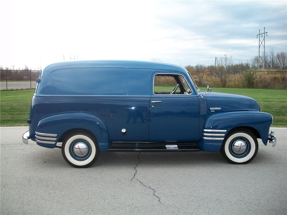 1949 CHEVROLET 3100 PANEL TRUCK - Side Profile - 96187