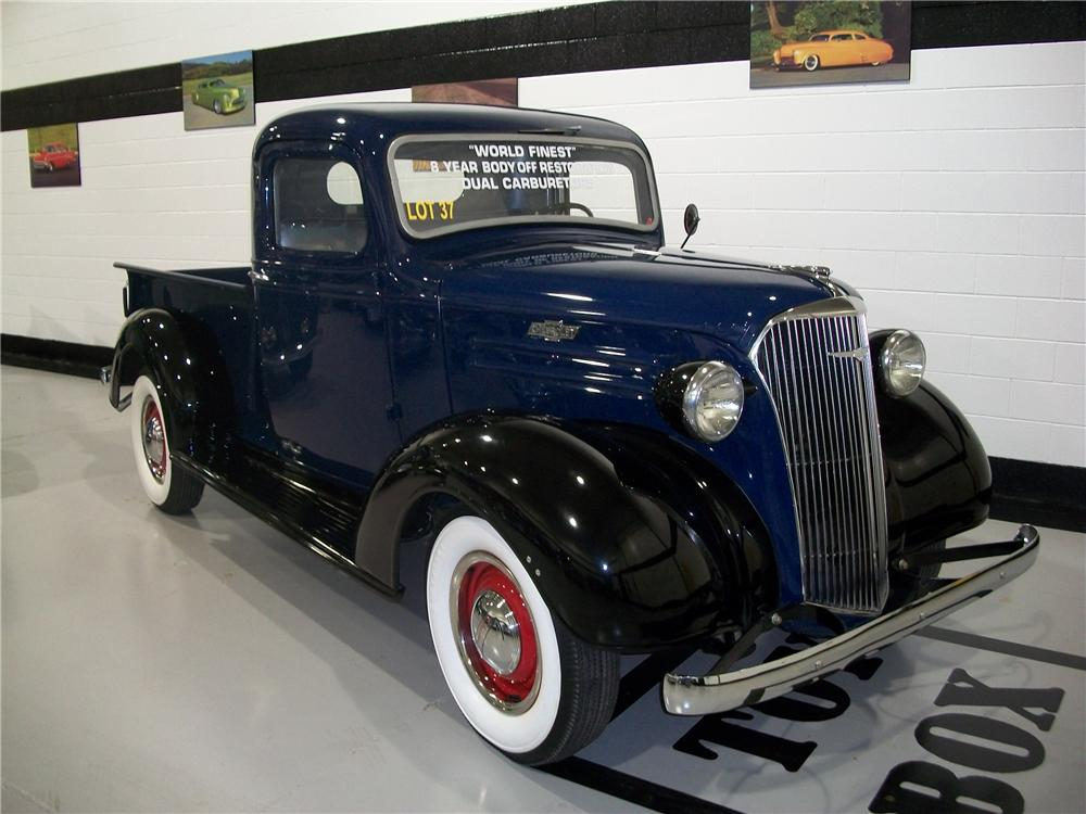1937 CHEVROLET STEP-SIDE PICKUP - Front 3/4 - 96188