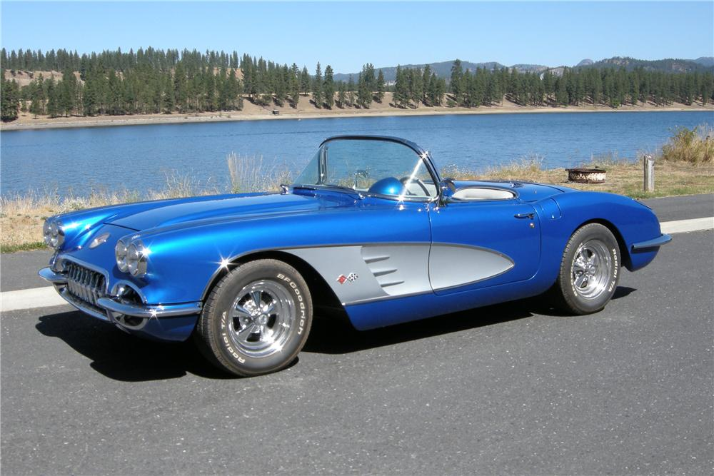 1959 CHEVROLET CORVETTE CUSTOM CONVERTIBLE - Front 3/4 - 96189