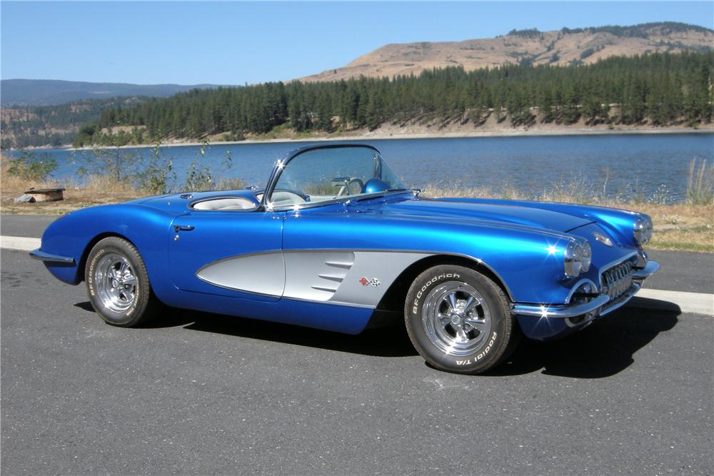 1959 CHEVROLET CORVETTE CUSTOM CONVERTIBLE - Side Profile - 96189