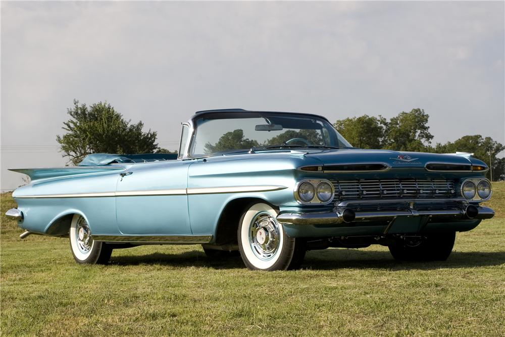 1959 CHEVROLET IMPALA CUSTOM CONVERTIBLE - Front 3/4 - 96190