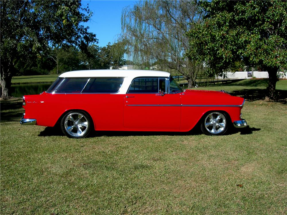 1955 CHEVROLET NOMAD CUSTOM WAGON - Side Profile - 96194