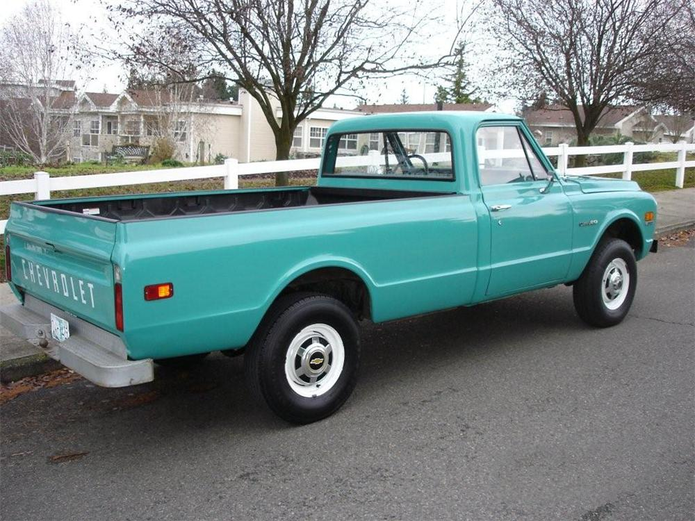 1971 CHEVROLET K-20 4X4 PICKUP - Rear 3/4 - 96202