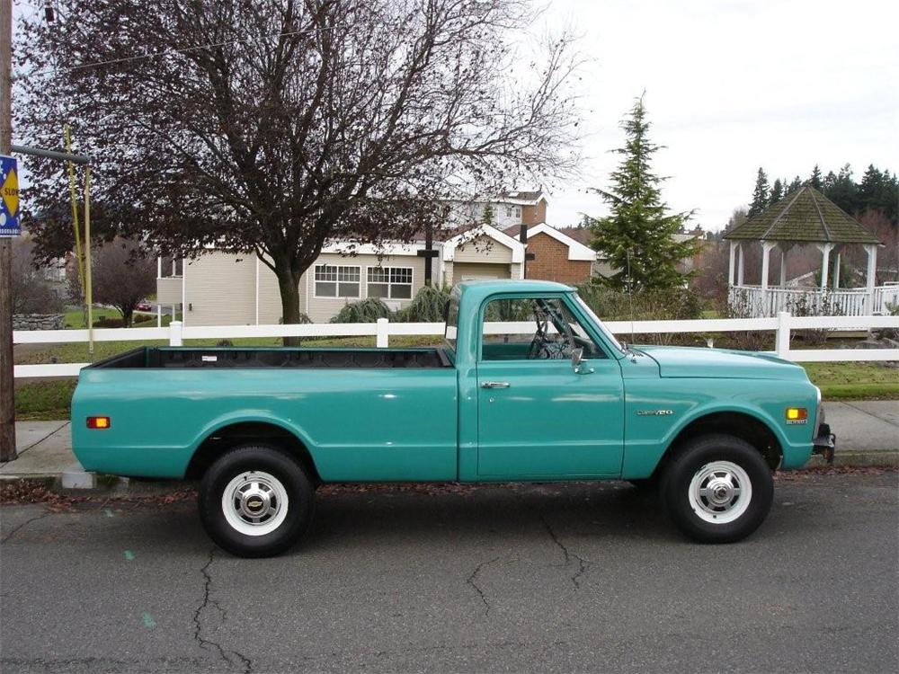 1971 CHEVROLET K-20 4X4 PICKUP - Side Profile - 96202