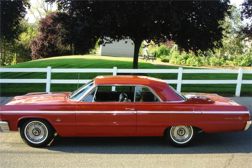 1964 CHEVROLET IMPALA SS 409 2 DOOR - Side Profile - 96205