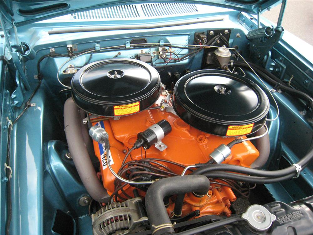 1963 DODGE 330 MAX WEDGE 2 DOOR COUPE - Engine - 96208