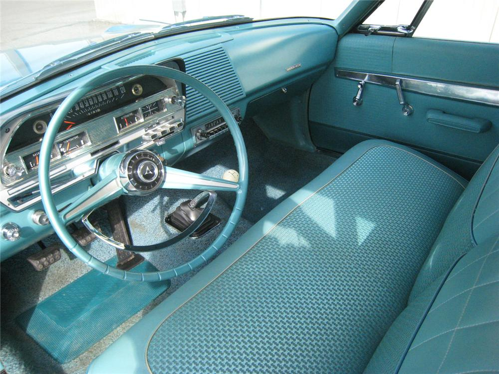 1963 DODGE 330 MAX WEDGE 2 DOOR COUPE - Interior - 96208