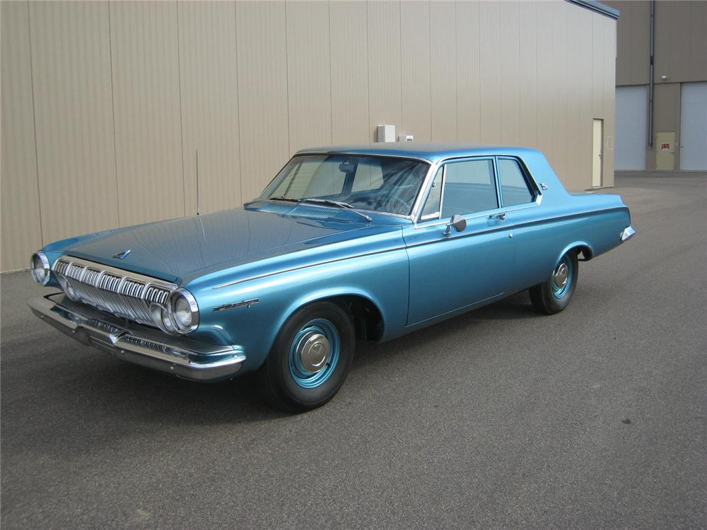 1963 DODGE 330 MAX WEDGE 2 DOOR COUPE - Side Profile - 96208