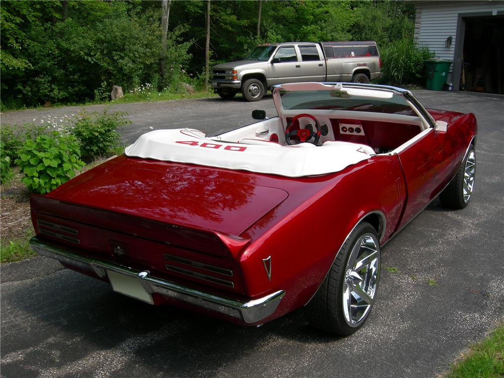 1968 PONTIAC FIREBIRD CUSTOM CONVERTIBLE - Rear 3/4 - 96210