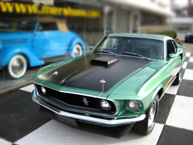 1969 FORD MUSTANG MACH 1 428 CJ COUPE - Front 3/4 - 96211