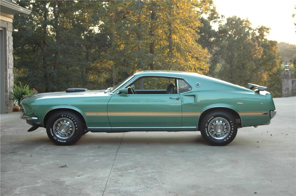 1969 FORD MUSTANG MACH 1 428 CJ COUPE - Side Profile - 96211