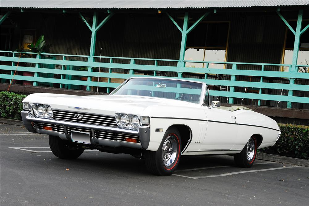 1968 CHEVROLET IMPALA SS CONVERTIBLE - Front 3/4 - 96213