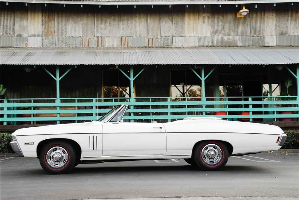 1968 CHEVROLET IMPALA SS CONVERTIBLE - Side Profile - 96213