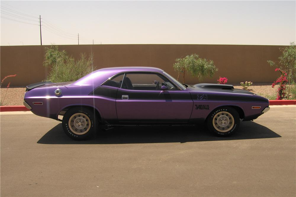 1970 DODGE CHALLENGER T/A 2 DOOR HARDTOP - Side Profile - 96218