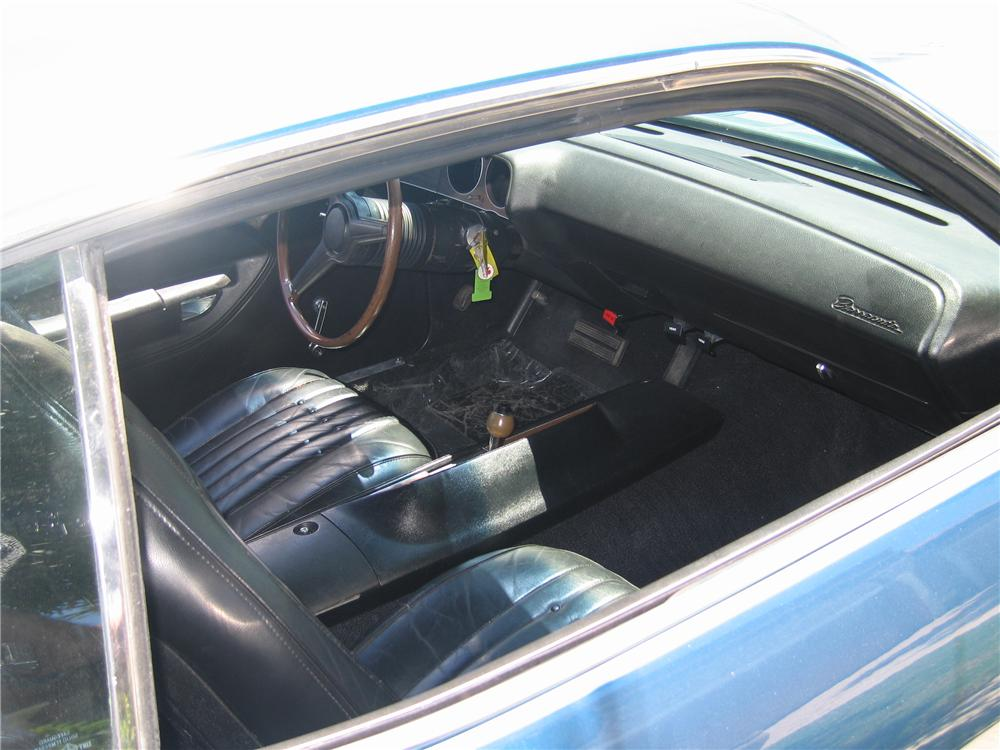 1970 PLYMOUTH CUDA 2 DOOR HARDTOP - Interior - 96221