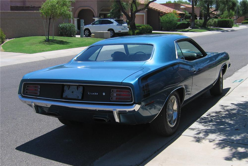 1970 PLYMOUTH CUDA 2 DOOR HARDTOP - Rear 3/4 - 96221