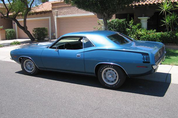 1970 PLYMOUTH CUDA 2 DOOR HARDTOP - Side Profile - 96221