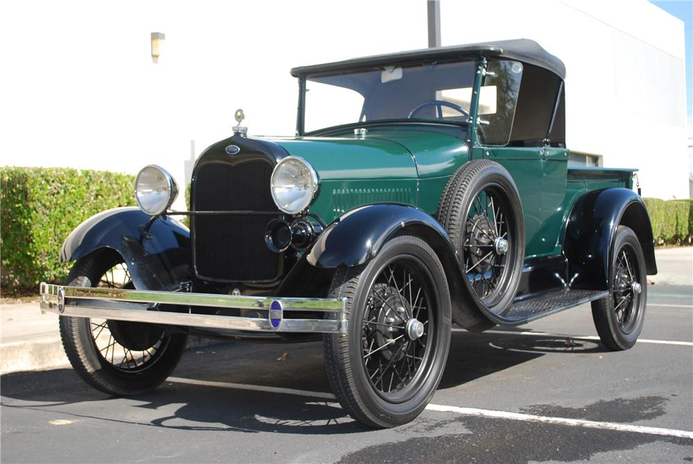 1929 FORD MODEL A ROADSTER PICKUP - Front 3/4 - 96223