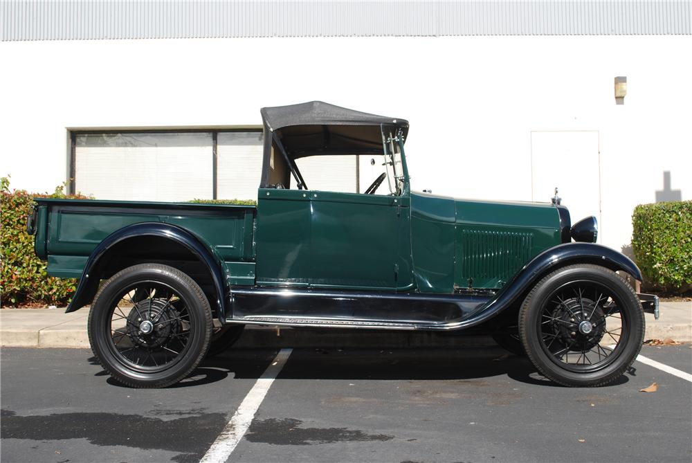 1929 FORD MODEL A ROADSTER PICKUP - Side Profile - 96223